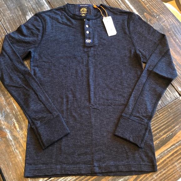 c9d626fca5b2 Superdry Shirts   Mens Size Large Heritage Grandad Henley   Poshmark